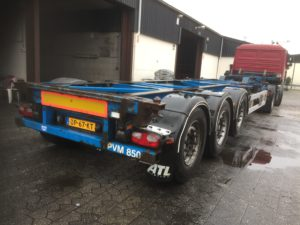 huur oplegger containerchassis
