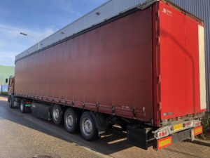 red rental trailer