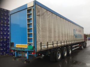 rent a grey flatbed trailer for storage