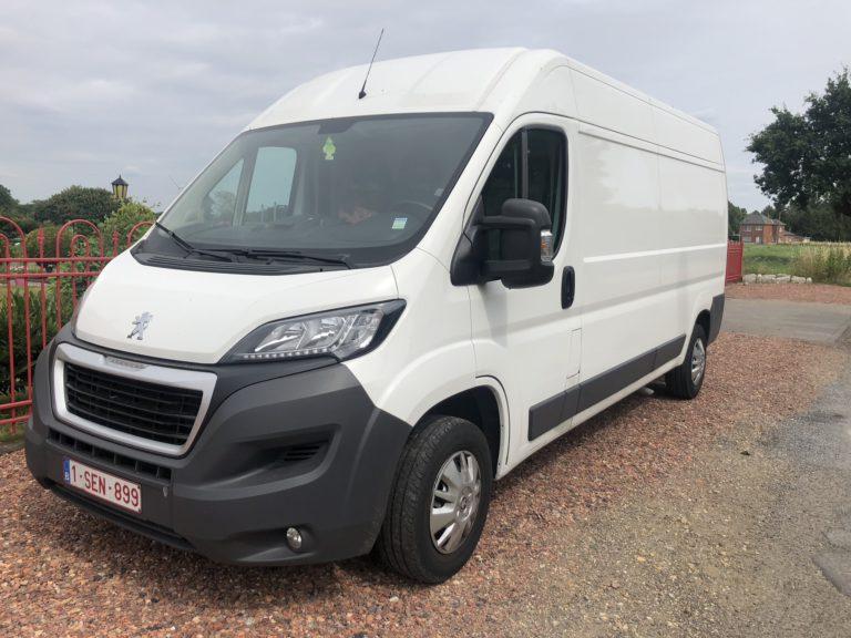white Peugeot Boxer for rent