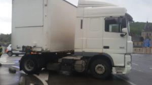 vrachtwagen tijdens opnames filmscène