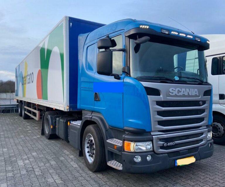 Scania blauw G 450